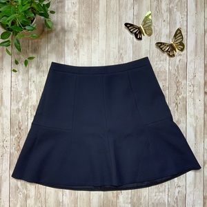 J.CREW Navy Blue Polyester Mini Skirt-Sz 0